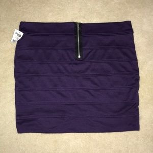 NWT purple mini skirt